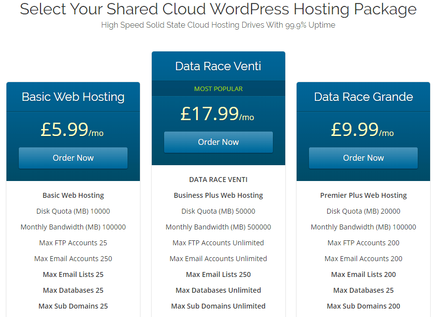 Best WordPress Hosting Package for small business