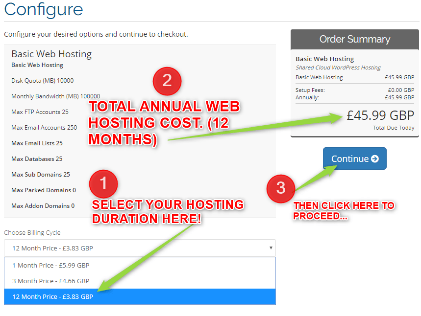 How to select a web hosting package